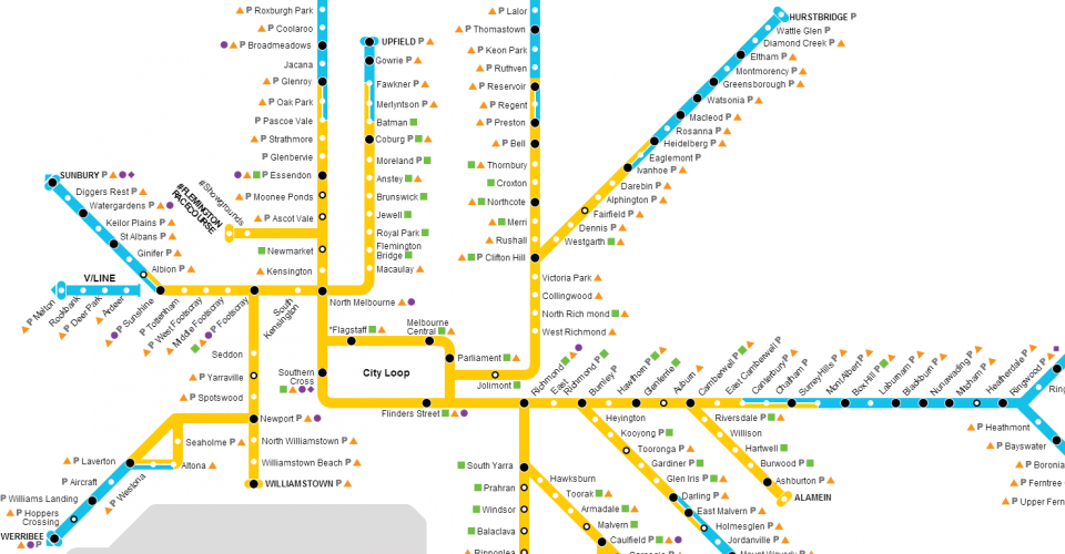 Melbourne Train Map In Css Purple Squirrels